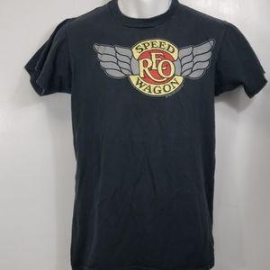 Vintage single stitch REO Speedwagon black tshirt